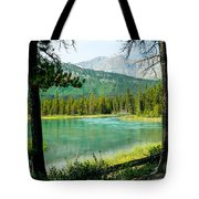 View Of Mistaya Between The Trees Tote Bag