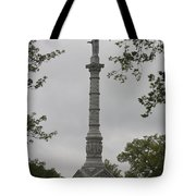 View Of Monument At Yorktown Tote Bag by Teresa Mucha