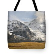 View Of Mt Eiger And Mt Monch, Kleine Tote Bag