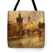 View Of Prague Tote Bag