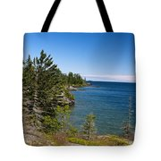 View Of Rock Harbor And Lake Superior Isle Royale National Park Tote Bag by Jason O Watson