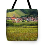 View Of Rodern From The Vineyards Of Alsace Tote Bag