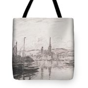 View Of Rouen Tote Bag