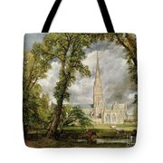 View Of Salisbury Cathedral From The Bishop's Grounds Tote Bag