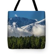 View Of San Juan Mountains With Clouds Tote Bag