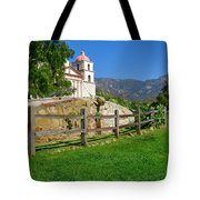 View Of Santa Barbara Mission Tote Bag