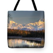 View Of Southside Mount Mckinley And Tote Bag