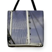View Of Spokes Of The Singapore Flyer Along With The Base Section Tote Bag