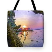 View Of Sunrise From A Houseboat Tote Bag