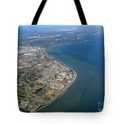 View Of Tampa Harbor Before Landing Tote Bag