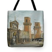View Of The Arsenale. Venice Tote Bag