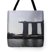 View Of The Artscience Museum And The Marina Bay Sands Resort Tote Bag
