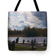 View Of The Creek From Catskill Point Tote Bag