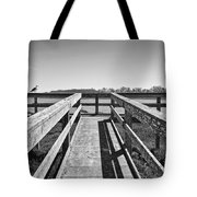 View Of The Elkhorn Slough From A Platform.  Tote Bag