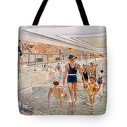 View Of The First Class Swimming Pool Tote Bag