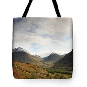 View Of The Glencoe Mountains Tote Bag
