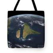 View Of The Indian Subcontinent Tote Bag