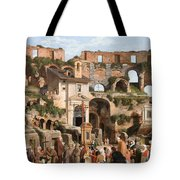 View Of The Interior Of The Colosseum Tote Bag