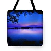 View Of The Night Lake Tote Bag