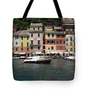 View Of The Portofino, Liguria, Italy Tote Bag