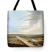 View Of The Railway Across Chat Moss Tote Bag
