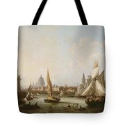 View Of The River Thames  Tote Bag