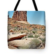 View Of Three Gossips In Arches Np-ut  Tote Bag