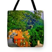 View Of Train Tunnel Tote Bag