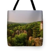 View Of Trosky Castle In A Village Tote Bag