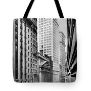 View Of Wall Street Tote Bag