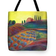 View On The Olive Grove Tote Bag