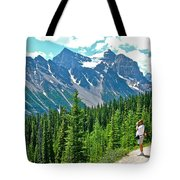 View On Trail To Lake Agnes In Banff Np-alberta Tote Bag