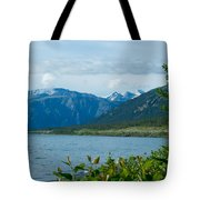 View One Kluane Lake From Cottonwood Campground Near Destruction Bay-yk   Tote Bag