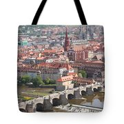 View Onto The Town Of Wuerzburg - Germany Tote Bag