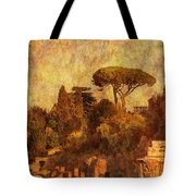 View Over The Forum In Rome Tote Bag