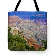 View Seven From Walhalla Overlook On North Rim Of Grand Canyon-arizona Tote Bag