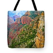View Six From Walhalla Overlook On North Rim Of Grand Canyon-arizona Tote Bag