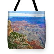 View Three From Walhalla Overlook On North Rim Of Grand Canyon-arizona  Tote Bag