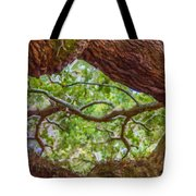 View Through Angel Oak Tree Tote Bag