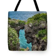 View Through The Crack  Tote Bag