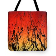 View Through The Tall Grass Tote Bag