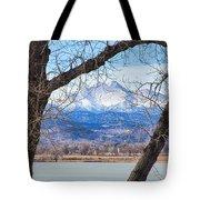 View Through The Trees To Longs Peak Tote Bag