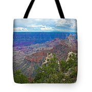 View Two From Walhalla Overlook On North Rim Of Grand Canyon-arizona Tote Bag