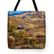 Viewing The Old Barn Tote Bag by Robert Bales