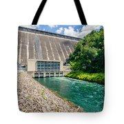 Views Of Man Made Dam At Lake Fontana Great Smoky Mountains Nc Tote Bag