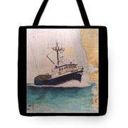 Vigilant Crab Fishing Boat Nautical Chart Art Tote Bag