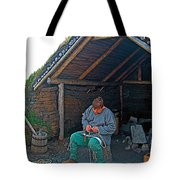 Viking Fisherman At L'anse Aux Meadows-nl  Tote Bag