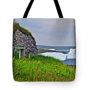 Viking House On Fishing  Point In Saint Anthony-nl Tote Bag