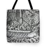 Viking Ship Tote Bag