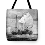 Vikings Cross The North Sea Tote Bag